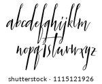 pen handwritten vector alphabet....   Shutterstock .eps vector #1115121926