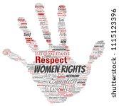 vector conceptual women rights  ...   Shutterstock .eps vector #1115123396
