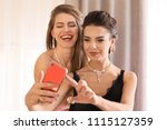beautiful young women with... | Shutterstock . vector #1115127359