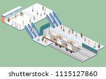 isometric flat 3d concept... | Shutterstock .eps vector #1115127860