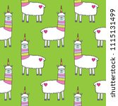 seamless pattern with cute... | Shutterstock .eps vector #1115131499