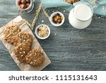 composition with delicious... | Shutterstock . vector #1115131643