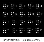 braille  numbers. reading for... | Shutterstock .eps vector #1115132993