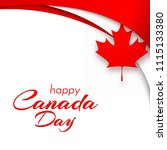 patriot poster with canada flag ... | Shutterstock .eps vector #1115133380