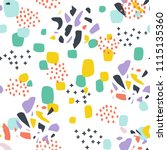 seamless pattern with abstract... | Shutterstock .eps vector #1115135360