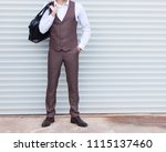 part of the body. young male... | Shutterstock . vector #1115137460