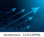 business chart candles of the... | Shutterstock .eps vector #1115139956