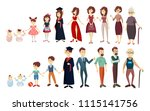 life stages set. man and woman. ... | Shutterstock . vector #1115141756