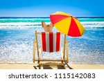 dog resting and relaxing on a... | Shutterstock . vector #1115142083
