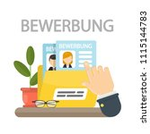 bewerbung concept illustration. ... | Shutterstock . vector #1115144783