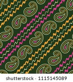 paisley bandanna pattern on... | Shutterstock .eps vector #1115145089