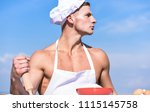 man on confident face wears... | Shutterstock . vector #1115145758
