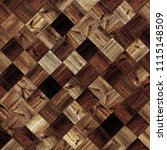 wood squares wall as a vintage... | Shutterstock . vector #1115148509