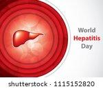 world hepatitis day brochure.... | Shutterstock .eps vector #1115152820