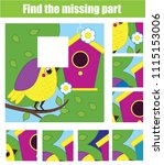 puzzle for toddlers. find the...   Shutterstock .eps vector #1115153006