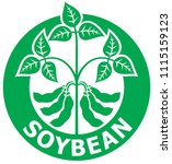 soybean label  symbol  vector... | Shutterstock .eps vector #1115159123