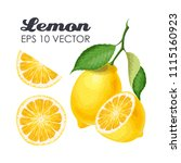 collection of lemons | Shutterstock .eps vector #1115160923