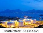 oil tanks at night | Shutterstock . vector #111516464