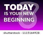 fitness motivation quote | Shutterstock . vector #1115164928