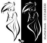 vector horse logo  black and... | Shutterstock .eps vector #1115168330