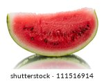 A ripe watermelon isolated on white background - stock photo