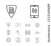 modern technology icons set... | Shutterstock .eps vector #1115169689