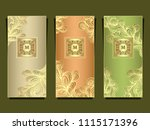set template for package or... | Shutterstock .eps vector #1115171396