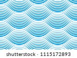 waves seamless pattern  vector... | Shutterstock .eps vector #1115172893