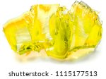 squares pieces on juicy yellow... | Shutterstock . vector #1115177513