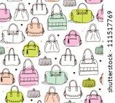 Seamless Vintage Fashion Bag...