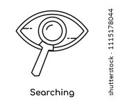 searching icon vector isolated...