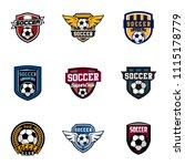 set of soccer or football club... | Shutterstock .eps vector #1115178779