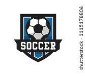 soccer or football club emblem...   Shutterstock .eps vector #1115178806