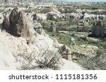 view of tuff rocks of love... | Shutterstock . vector #1115181356