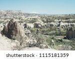 view of tuff rocks of love... | Shutterstock . vector #1115181359