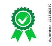 green approved or certified... | Shutterstock .eps vector #1115182580