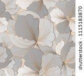 floral seamless pattern. flower ... | Shutterstock .eps vector #1115183870