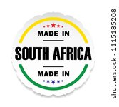 made in south africa flag... | Shutterstock .eps vector #1115185208
