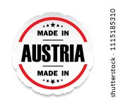 made in austria flag button... | Shutterstock .eps vector #1115185310