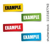 example realistic sticker and... | Shutterstock .eps vector #1115187743