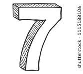 vector hand drawn sketch...   Shutterstock .eps vector #1115188106
