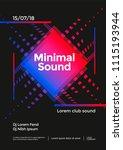 minimal music poster design.... | Shutterstock .eps vector #1115193944