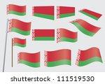 set of flags of belarus... | Shutterstock . vector #111519530