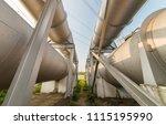 oil pipe in factory | Shutterstock . vector #1115195990