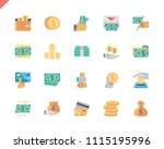 simple set money flat icons for ... | Shutterstock .eps vector #1115195996