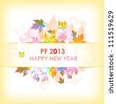pf 2013 happy new year   Shutterstock .eps vector #111519629