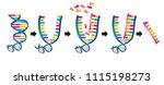 double stranded dna is copied... | Shutterstock . vector #1115198273