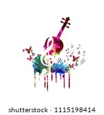 music colorful background with... | Shutterstock .eps vector #1115198414
