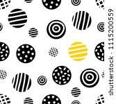 black seamless pattern  polka... | Shutterstock .eps vector #1115200559