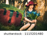 woman photo traveling in the... | Shutterstock . vector #1115201480